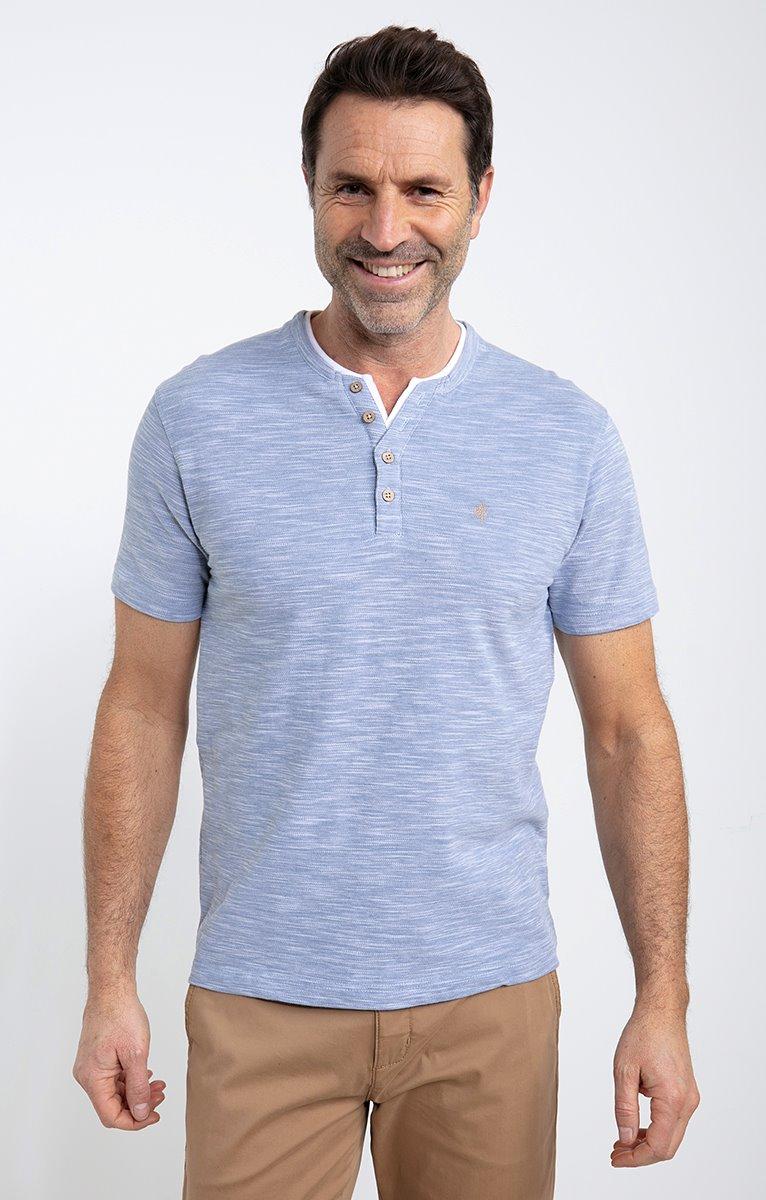 Tee shirt manches courtes slub pique