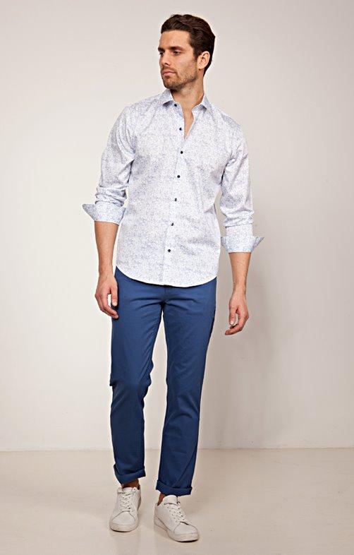 Pantalon 5 poches coupe régular Relief