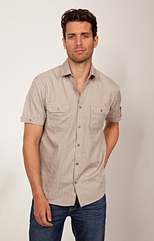 CHEMISE MANCHES COURTES UNIE whity