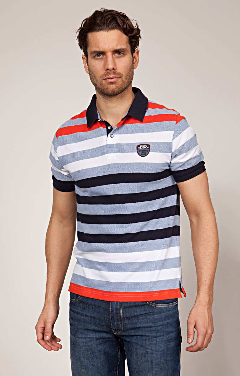 Polo rayures tricolore