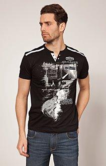 Tee shirt imprimé trico
