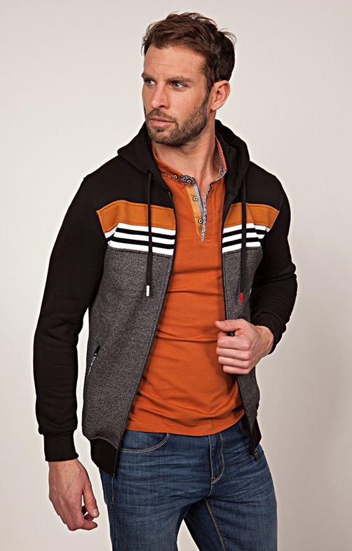Gilet sportswear à rayures